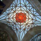 Spiders web in Tewkesbury Cathedral by John Dalkin