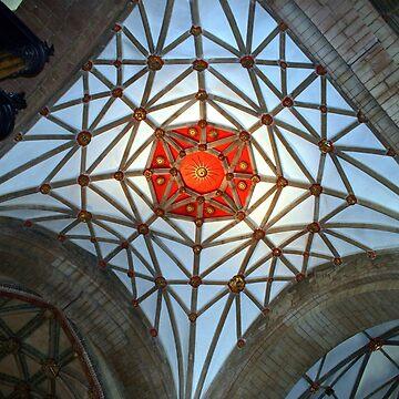 Spiders web in Tewkesbury Cathedral by JohnDalkin