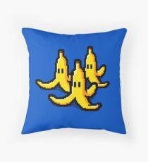 Pixel Banana Skin Throw Pillow