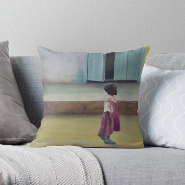 African Girl Throw Pillow