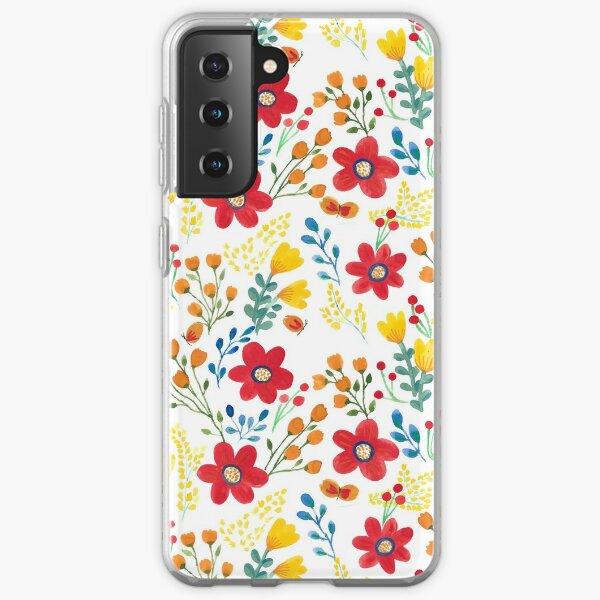 Summer flowers Samsung Galaxy Soft Case
