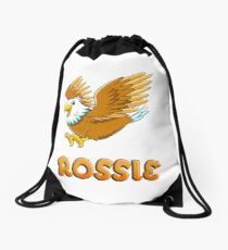 Rossie Eagle Sticker Drawstring Bag