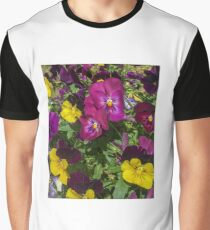 Colorful Spring Pansies Graphic T-Shirt