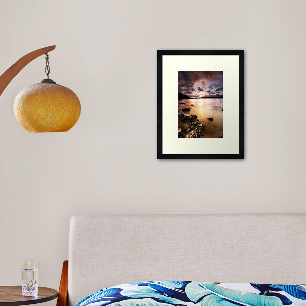 Colt Crag sunset Framed Art Print