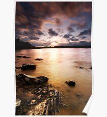 Colt Crag sunset Poster