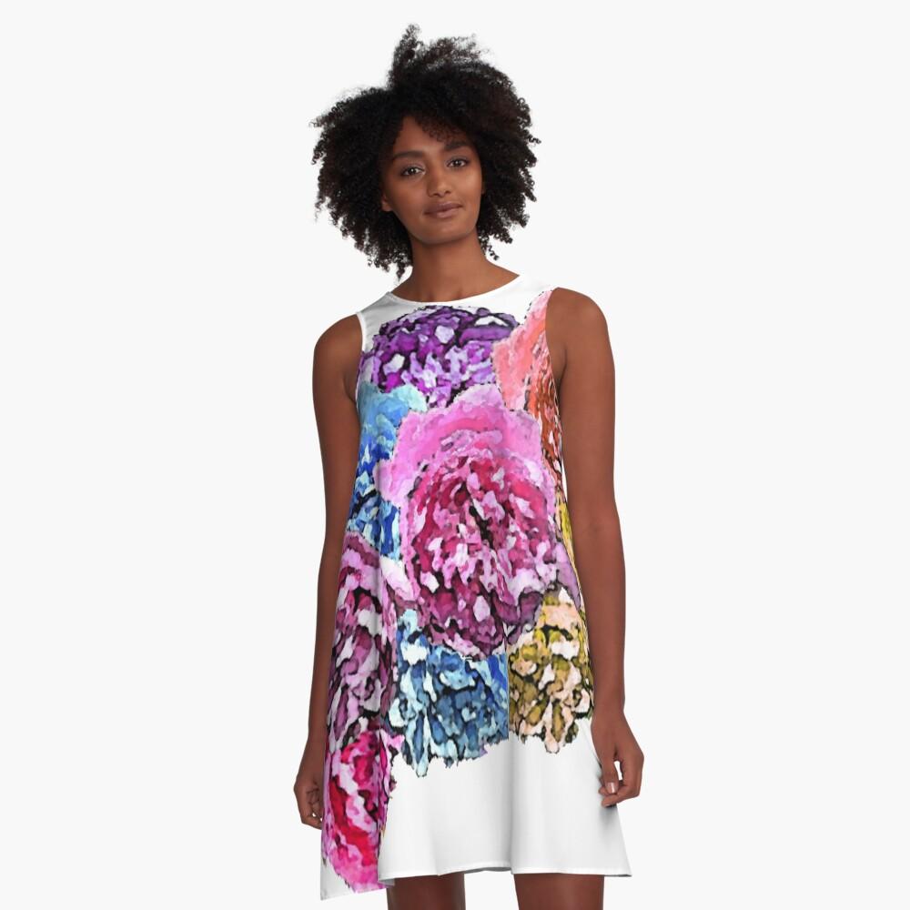 Roses A-Line Dress