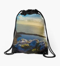Quartz on the mountain Drawstring Bag