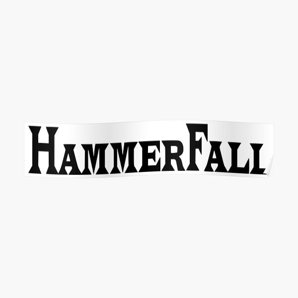 HAMMERFALL VINYL DECAL STICKER CUSTOM SIZE//COLOR MANOWAR HELLOWEEN EDGUY