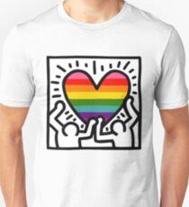 Keith Haring w/ original pride flag Unisex T-Shirt