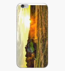 Claas Combine at sunset iPhone Case