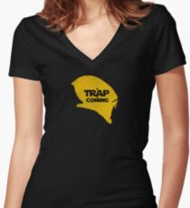 A Trap is Coming Women's Fitted V-Neck T-Shirt