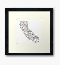 California Vibes Framed Print
