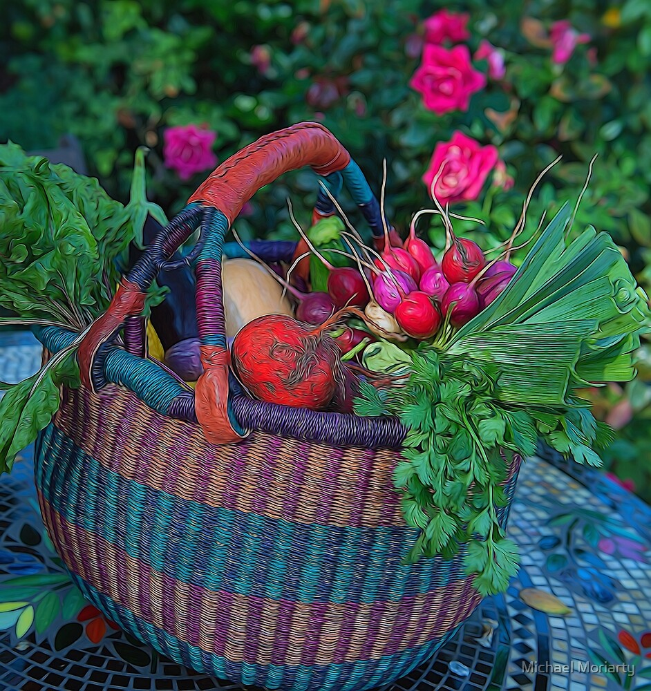 Basket of Produce by Michael Moriarty