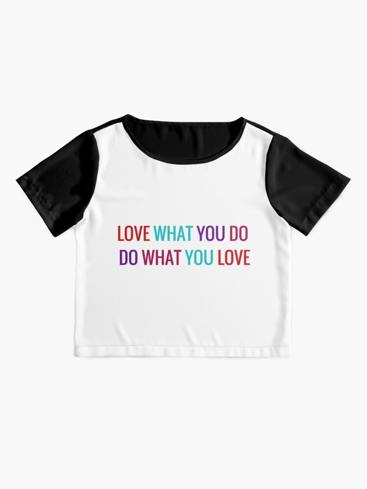 Alternate view of Love What You Do, Do What You Love Chiffon Top