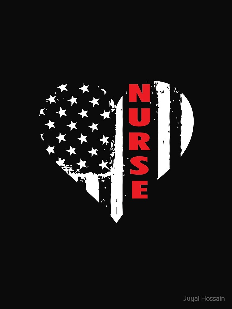 LOVE AMERICAN NURSE! Awesome Nurse TShirt by Jakaria
