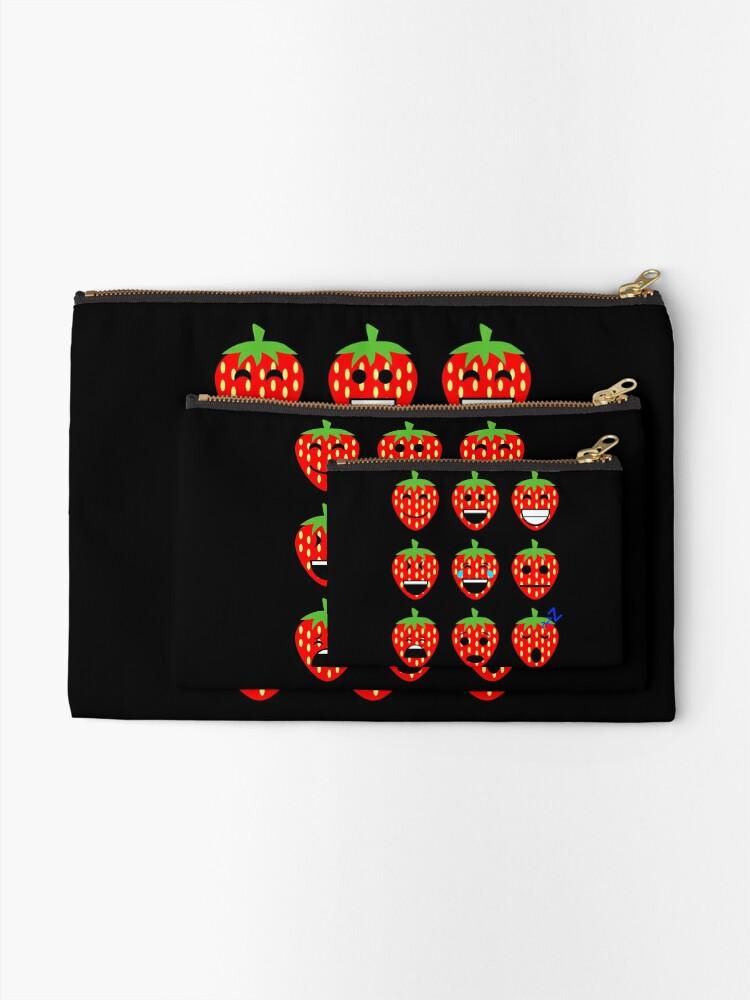 Alternative Ansicht von Erdbeere Emojis Täschchen