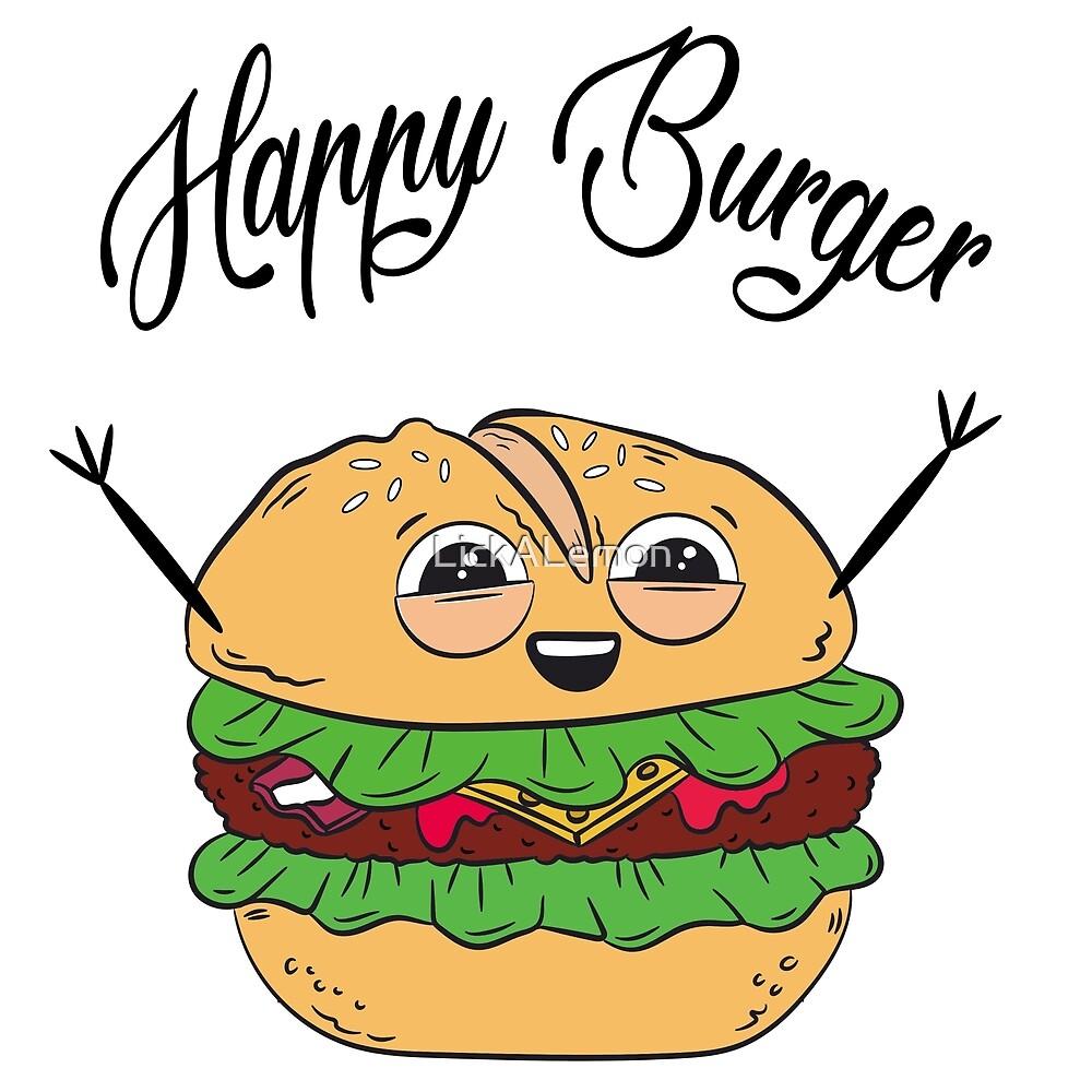 Happy Hamburger by LickALemon