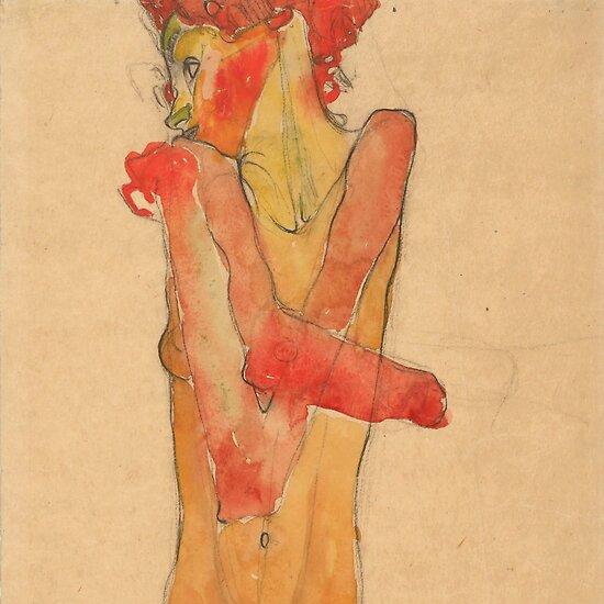 "Egon Schiele ""Girl Nude with Folded Arms"" by Alexandra Dahl"