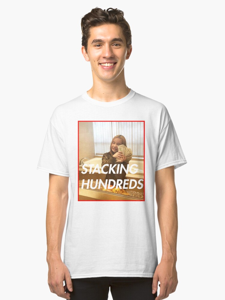 Lil tay: stacking hundreds Classic T-Shirt Front