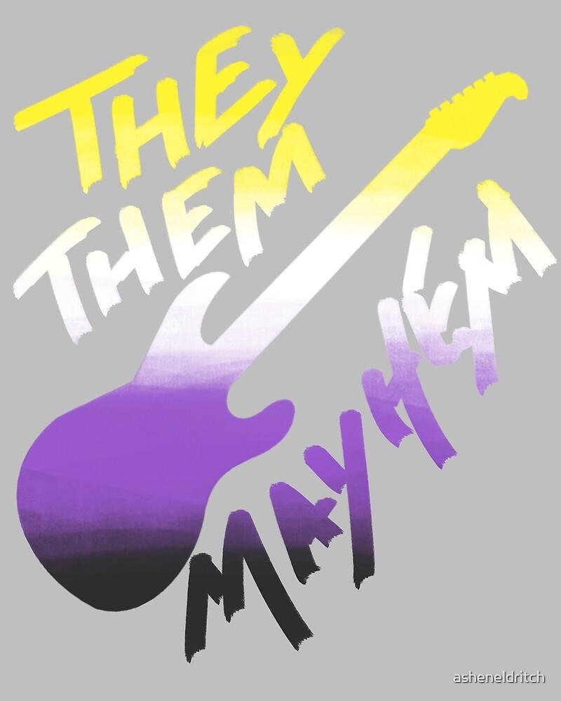 They/Them Mayhem - Nonbinary Flag by asheneldritch