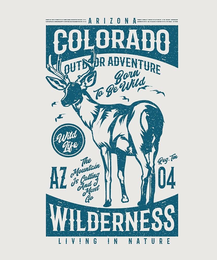 Colorado Vintage Souvenir Gifts Retro Distressed by STYLESYNDIKAT