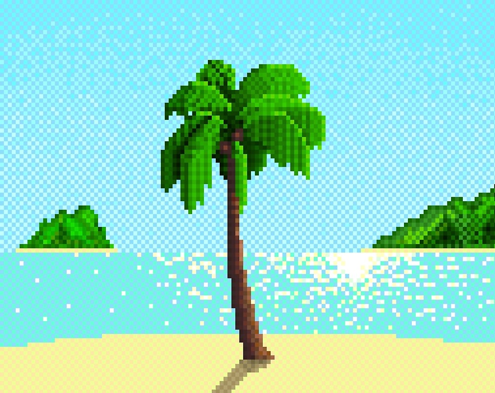 Pixel Palm by Patrick Codere