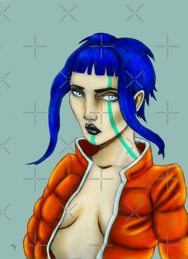 Blue Haired Woman by TaliDe