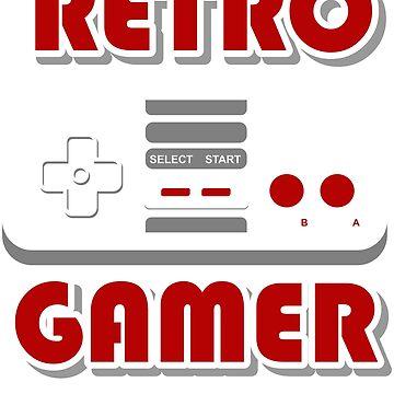 Retro 8bit Gamer tShirt by CrazyWebs