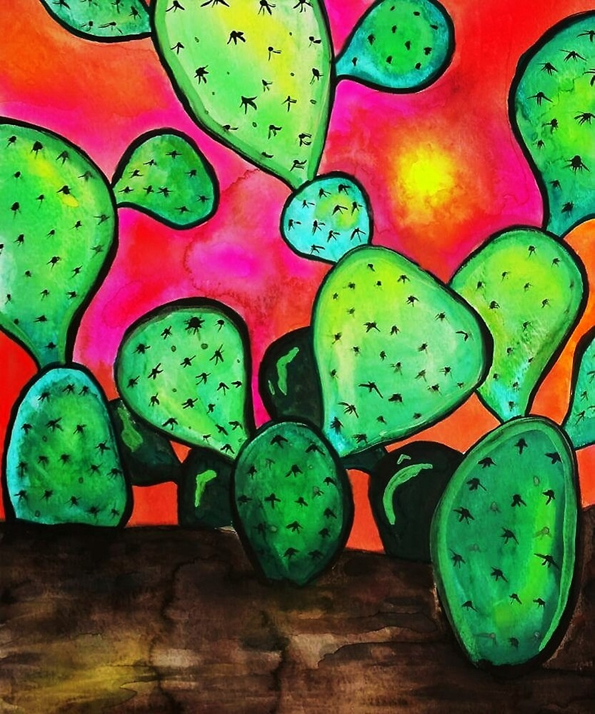 Prickly Pear Cactus by ArtistKAO