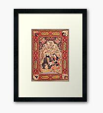 Antique Tabriz Omar Khayyam Rug Framed Print