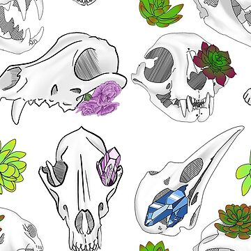 Just some cute little skulls (Purple) by WitchyTendency