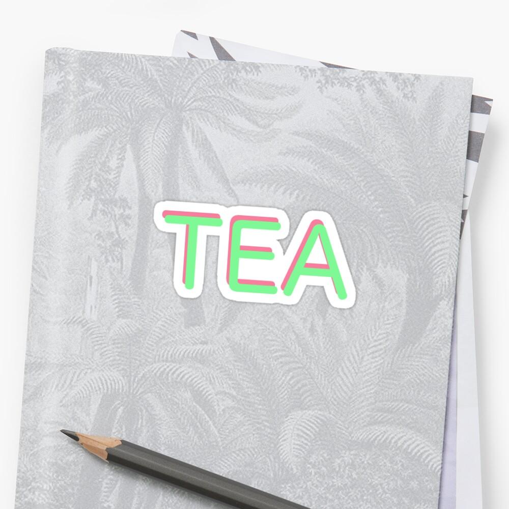 WIG TEA STAN STICKER QUEEN by KOTTNKANDY