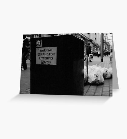 Littering on a Soviet Scale. Greeting Card