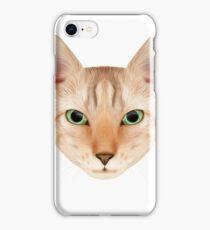 Cat face portrait. iPhone Case/Skin