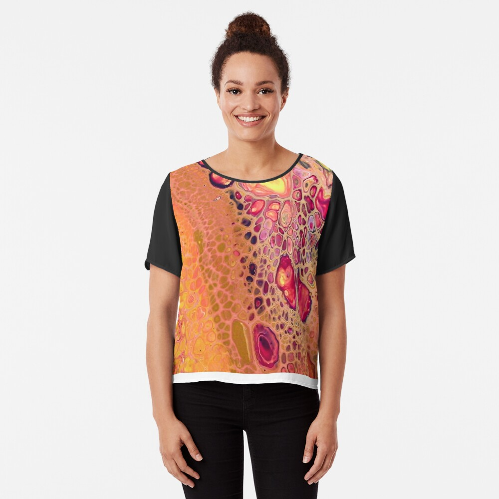 Yellow and Pink: Make it Terry Chiffon Top