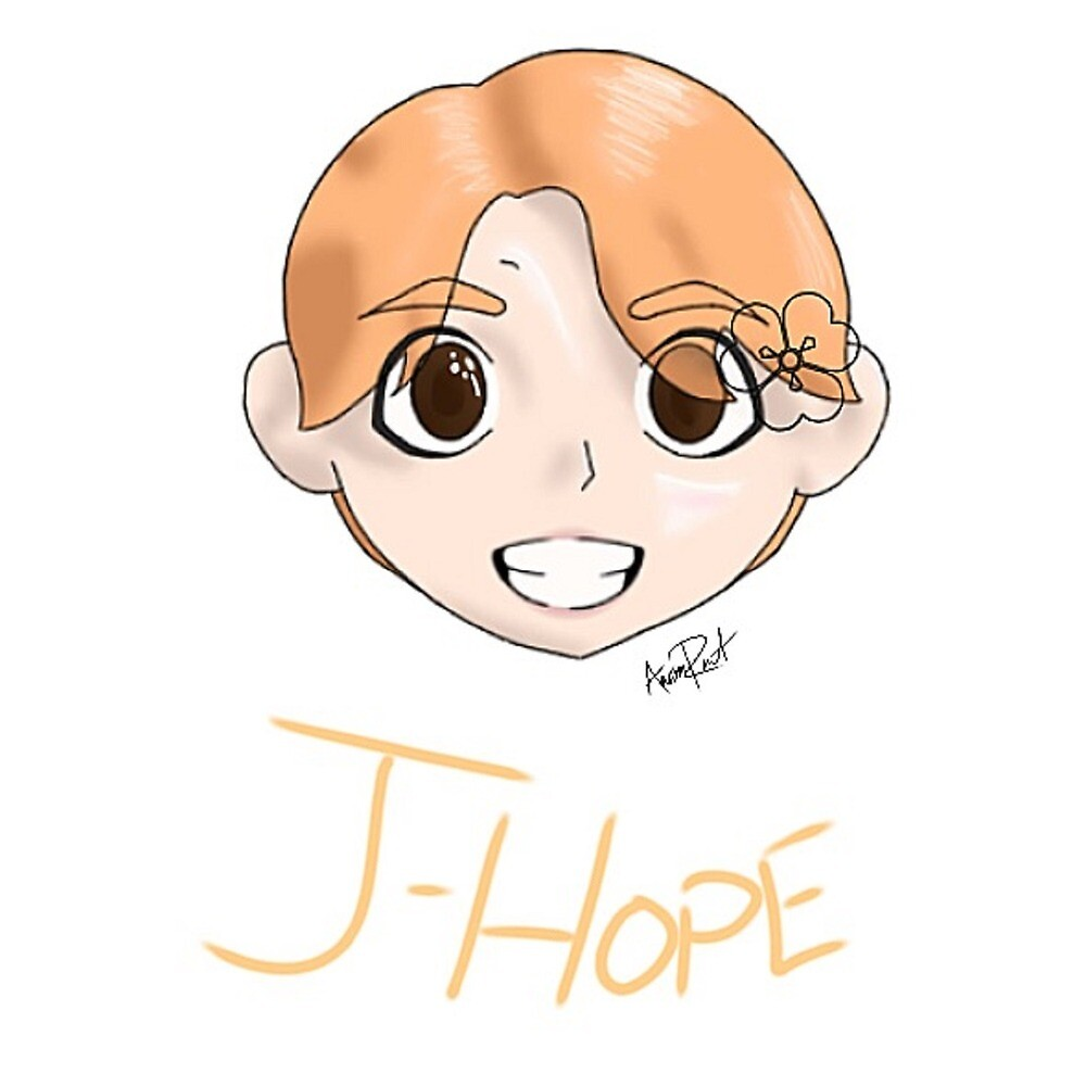 J-Hope Sticker/Print/Tablet Case with Name by cosplayaoart