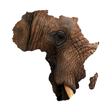 African Elephant Map by Goudvissie