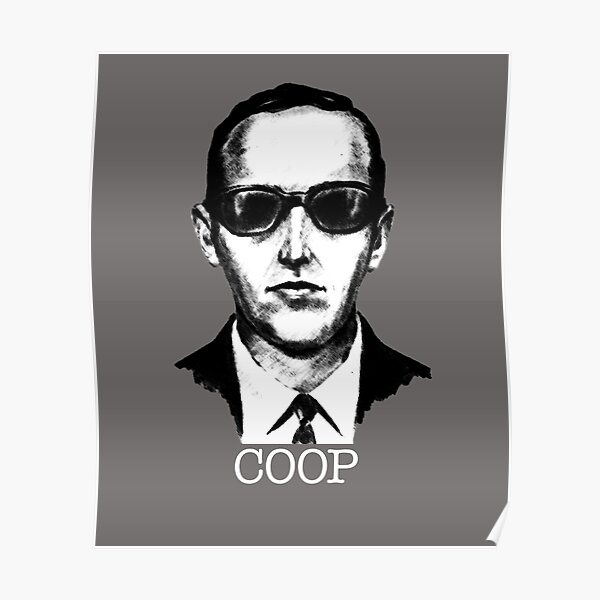 D.B. Cooper, The Coop. 1971 Heist Artists Impression Poster