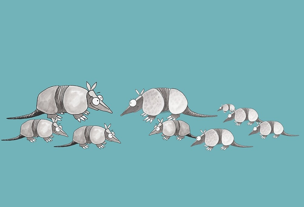 Armadillo Family by Sharon Rigsby