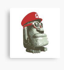 Super Mario Odyssey Moe-Eye Stone Statue Canvas Print