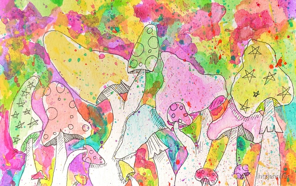 Trippy Mushrooms by ihtzjennifer