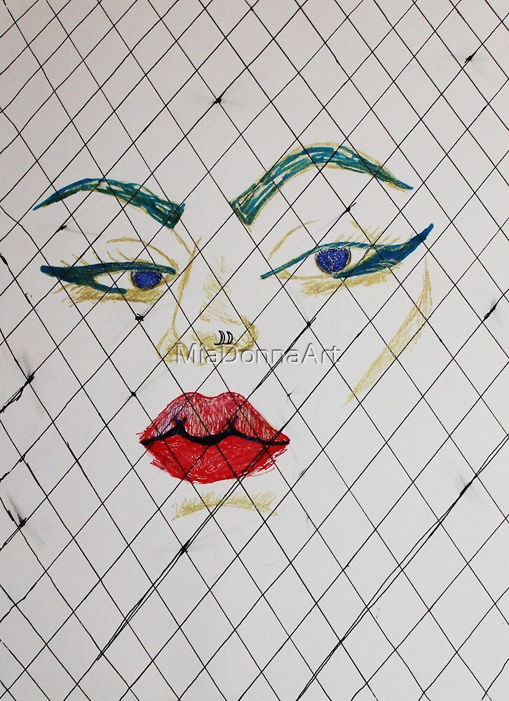 Fishnets and Face by MiaDonnaArt