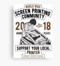 Screen Printing Community Canvas Print