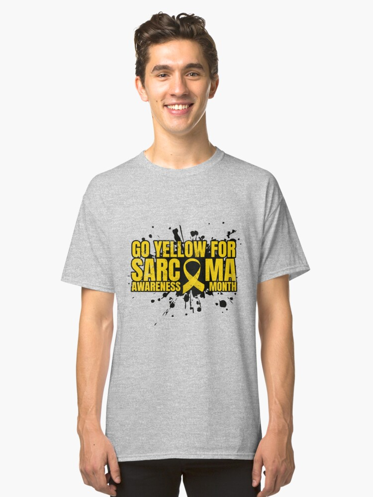 Go Yellow for Sarcoma Awareness Month Classic T-Shirt Front
