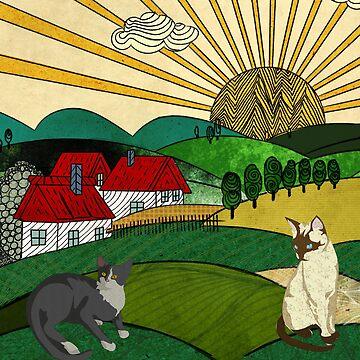 Hills Cats 1 by Design4uStudio
