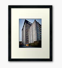Brutalist architecture Framed Print
