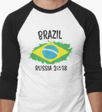 BRAZIL WORLD CUP RUSSIA 2018 Men's Baseball ¾ T-Shirt