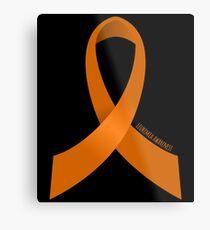 Leukemia Awareness Ribbon Metal Print