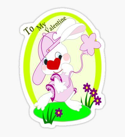 Bunny's Valentine Greeting (649Views) Sticker