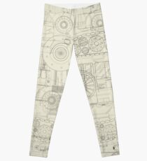 Seamless pattern vehicles design Leggings